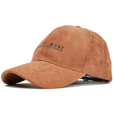 Outdoor Letter Embroidery Embellished Corduroy Baseball Hat