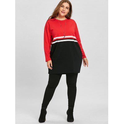 Plus Size Color Block Double Striped SweatshirtPlus Size Tops<br>Plus Size Color Block Double Striped Sweatshirt<br><br>Material: Polyester<br>Package Contents: 1 x Sweatshirt<br>Pattern Style: Others<br>Season: Fall, Spring<br>Shirt Length: Long<br>Sleeve Length: Full<br>Style: Fashion<br>Weight: 0.4500kg