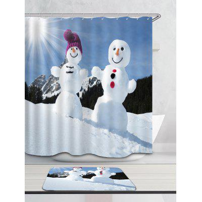 Sunshine Snowmen Couple Printed Shower CurtainShower Curtain<br>Sunshine Snowmen Couple Printed Shower Curtain<br><br>Materials: Polyester<br>Number of Hook Holes: W59 inch * L71 inch:10, W71 inch * L71 inch:12, W71 inch * L79 inch:12<br>Package Contents: 1 x Shower Curtain 1 x Hooks (Set)<br>Pattern: Snowman<br>Products Type: Shower Curtains<br>Style: Festival