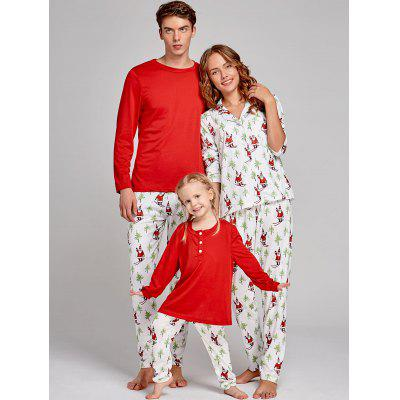 Santa Claus Printed Family Christmas PajamaPajamas<br>Santa Claus Printed Family Christmas Pajama<br><br>Material: Cotton, Polyester<br>Package Contents: 1 x T-shirt 1 x Pants<br>Pattern Type: Print<br>Weight: 0.4000kg