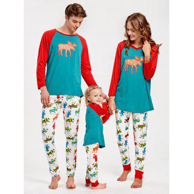 ELK Tee and Pants Family Christmas PajamasPajamas<br>ELK Tee and Pants Family Christmas Pajamas<br><br>Material: Cotton, Polyester<br>Package Contents: 1 x Tee 1 x Pants<br>Pattern Type: Animal<br>Weight: 0.3500kg
