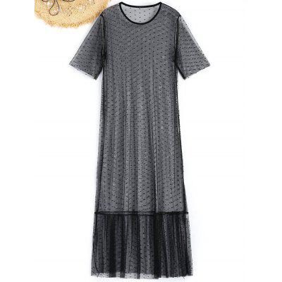 Sheer Maxi Mesh Beach Dress