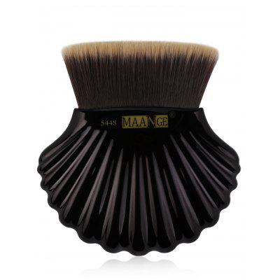 Professional Shell Pattern Embellished Flat Top Foundation Brush
