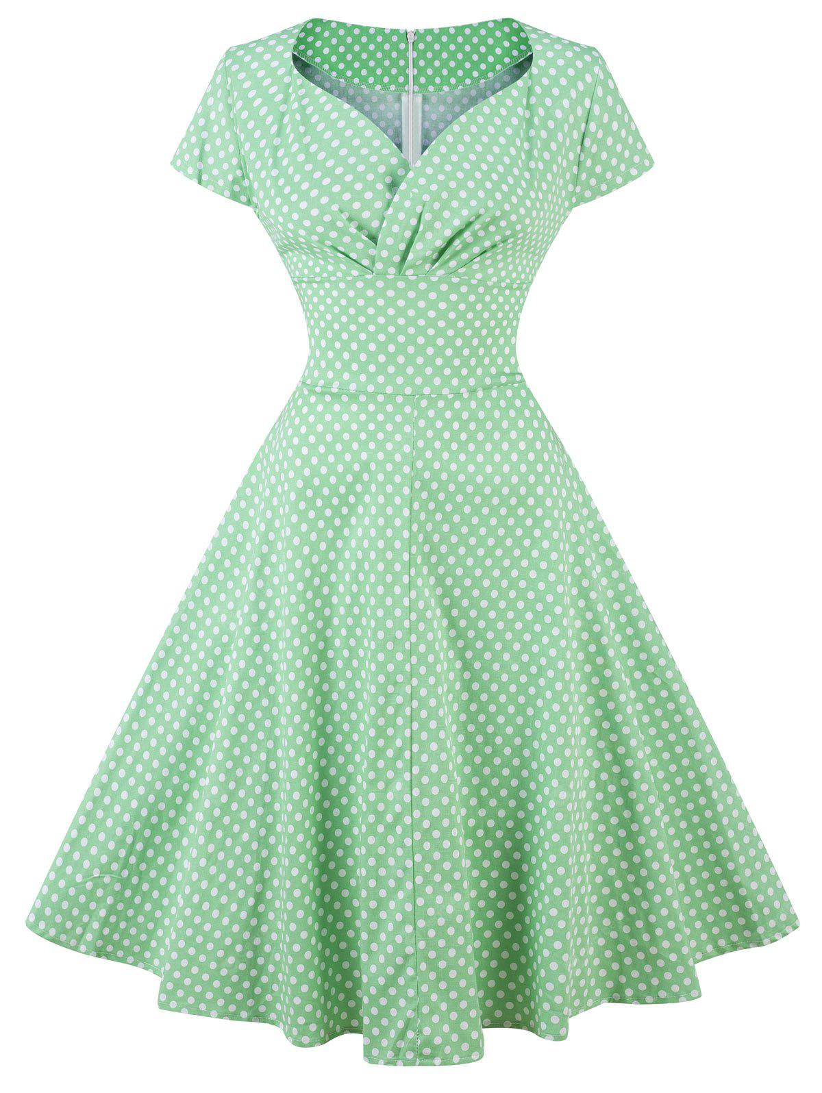 Retro Polka Dot Pin Up Party Dress