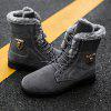Faux Fur Lined Warm Ankle Bootsc - GRAY