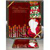 Cortina de ducha de Santa Claus Cake And Candles Pattern - ROJO OSCURO