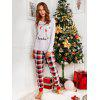 Bear Plaid Family Christmas Pajama - ROSSO
