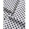 Retro Polka Dot Pin Up Party Dress - WHITE