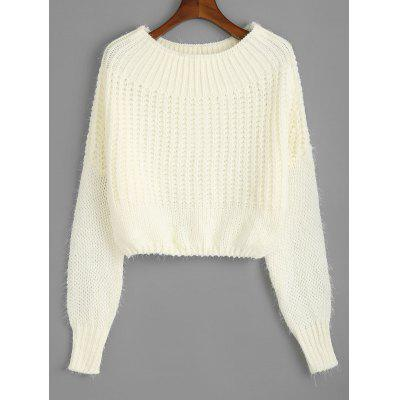 Schulterfreier Pullover Chunky Sweater