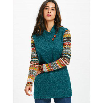 Heap Collar Ethnic Print Long Sleeve TopBlouses<br>Heap Collar Ethnic Print Long Sleeve Top<br><br>Collar: Heaps Collar<br>Embellishment: Button<br>Material: Polyester<br>Package Contents: 1 x Top<br>Pattern Type: Print<br>Season: Fall, Spring<br>Shirt Length: Regular<br>Sleeve Length: Full<br>Style: Casual<br>Weight: 0.3500kg