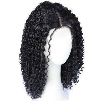 Medium Center Parting Curly Synthetic Wig