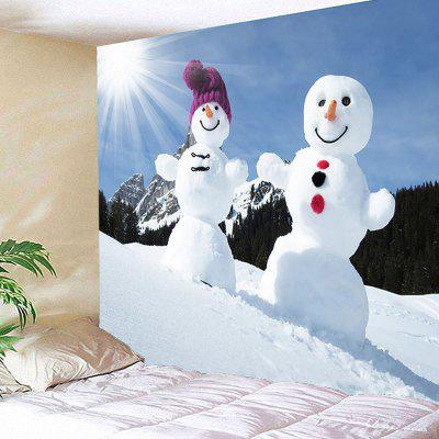 Snowmen Couples Pattern Decorative Wall Art TapestryBlankets &amp; Throws<br>Snowmen Couples Pattern Decorative Wall Art Tapestry<br><br>Feature: Removable, Waterproof<br>Material: Polyester<br>Package Contents: 1 x Tapestry<br>Shape/Pattern: Mountain,Snowman<br>Style: Festival<br>Theme: Christmas<br>Weight: 0.3100kg