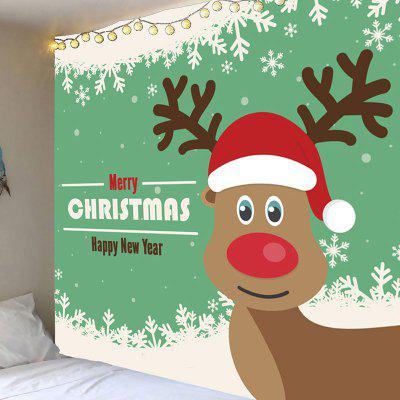 Los copos de nieve Christmas Elk Pattern Decorative Wall Tapestry