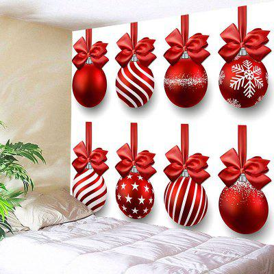 Christmas Hanging Bowknot Balls Pattern Wall TapestryBlankets&amp; Throws<br>Christmas Hanging Bowknot Balls Pattern Wall Tapestry<br><br>Feature: Removable, Waterproof<br>Material: Polyester<br>Package Contents: 1 x Tapestry<br>Shape/Pattern: Ball<br>Style: Festival<br>Theme: Christmas<br>Weight: 0.2500kg