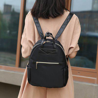 Double Handles Nylon BackpackBackpacks<br>Double Handles Nylon Backpack<br><br>Closure Type: Zipper<br>Gender: For Women<br>Handbag Size: Medium(30-50cm)<br>Handbag Type: Backpack<br>Main Material: Nylon<br>Occasion: Versatile<br>Package Contents: 1 x Backpack<br>Pattern Type: Color Block<br>Size(CM)(L*W*H): 27*15*31CM<br>Style: Fashion<br>Weight: 1.2000kg