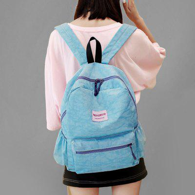 Letter Print Multi Function Backpack With HandleBackpacks<br>Letter Print Multi Function Backpack With Handle<br><br>Closure Type: Zipper<br>Gender: For Women<br>Handbag Size: Medium(30-50cm)<br>Handbag Type: Backpack<br>Main Material: Polyester<br>Occasion: Versatile<br>Package Contents: 1 x Backpack<br>Pattern Type: Letter<br>Size(CM)(L*W*H): 27*12*37.5CM<br>Style: Fashion<br>Weight: 1.2000kg