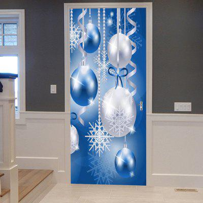 Buy Christmas Baubles Snowflakes Pattern Door Art Stickers, BLUE, Home & Garden, Home Decors, Wall Art, Wall Stickers for $21.35 in GearBest store