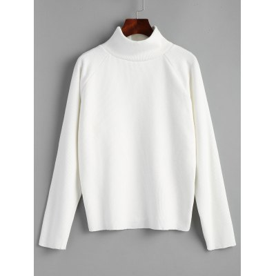 Turtleneck Raglan Sleeve Pullover Sweater