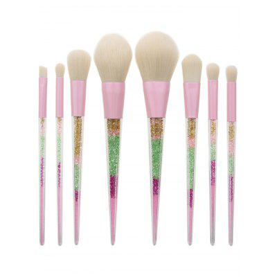 Glitter Powder Handle Makeup Brush Set 8Pcs