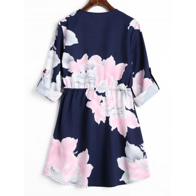 Cuff Roll Sleeve Half Zipper Floral DressWomens Dresses<br>Cuff Roll Sleeve Half Zipper Floral Dress<br><br>Dresses Length: Mini<br>Material: Polyester<br>Neckline: Round Collar<br>Occasion: Causal<br>Package Contents: 1 x Dress<br>Pattern Type: Floral<br>Season: Fall<br>Silhouette: A-Line<br>Sleeve Length: Long Sleeves<br>Style: Casual<br>Weight: 0.2900kg<br>With Belt: No