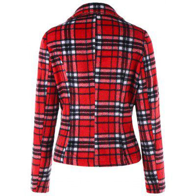 Skew Zipper Lapel Plaid JacketJackets &amp; Coats<br>Skew Zipper Lapel Plaid Jacket<br><br>Clothes Type: Jackets<br>Collar: Lapel<br>Material: Polyester, Cotton Blends<br>Package Contents: 1 x Jacket<br>Pattern Type: Plaid<br>Season: Fall, Winter<br>Shirt Length: Regular<br>Sleeve Length: Full<br>Style: Fashion<br>Type: Slim<br>Weight: 0.7570kg