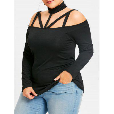 Plus Size Cut Out Long Sleeve T-shirt
