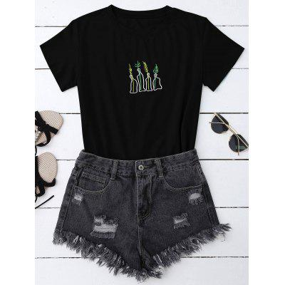 Graphic Embroidered T-Shirt