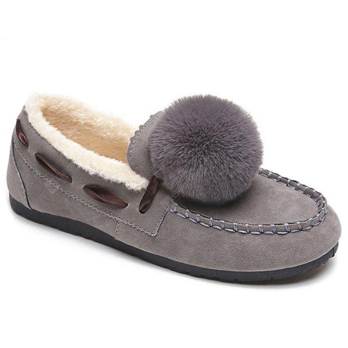 Pompom Whipstitch Loafer Zapatos