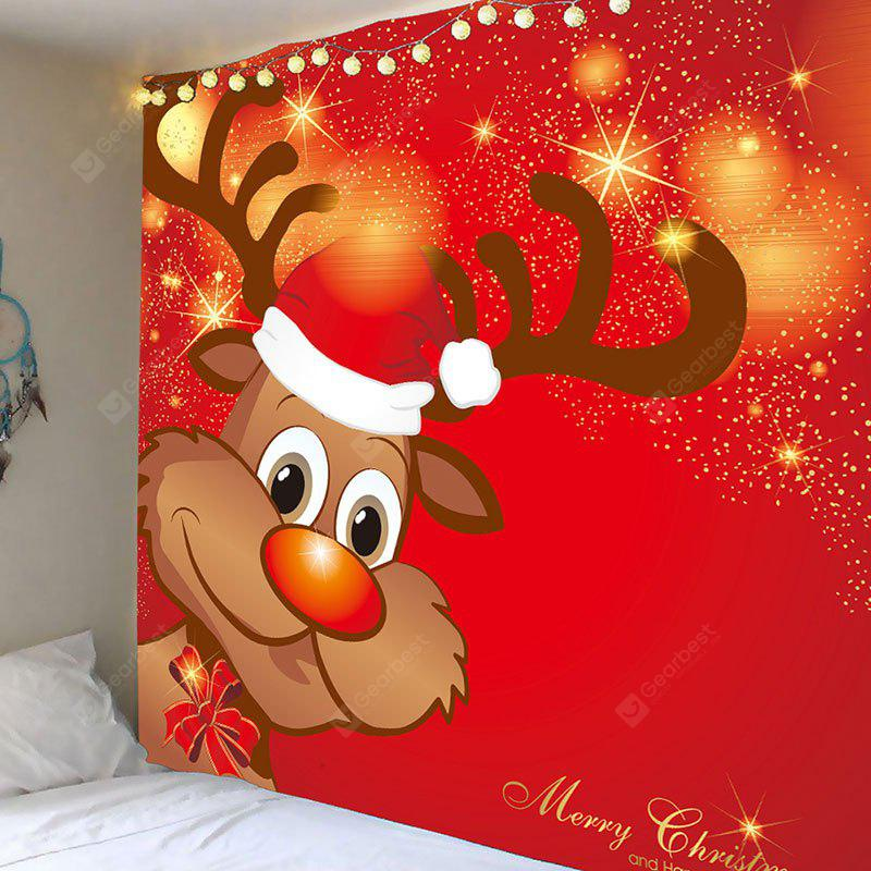 Christmas Elk Pattern Decorative Wall Tapestry