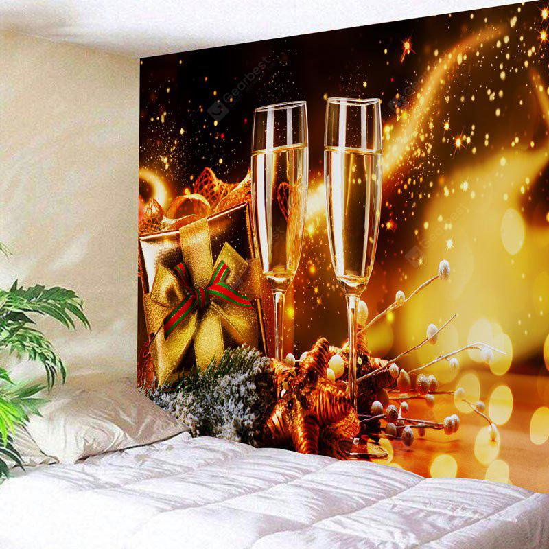 Christmas Two Champagne Glasses Print Wall Decor Tapestry