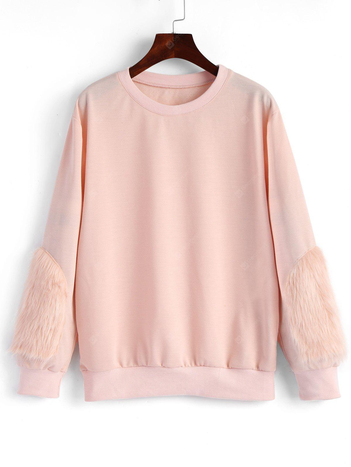 Faux Fur Embellished Sweatshirt