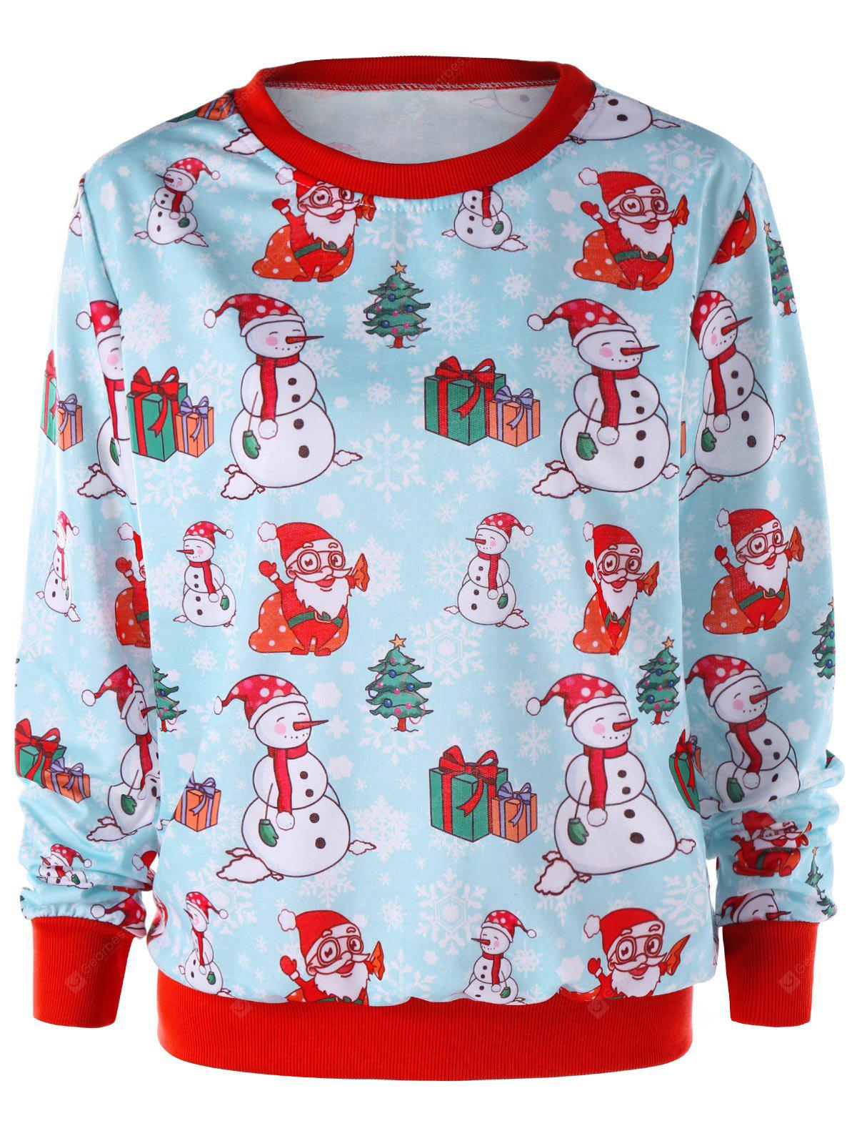Christmas Snowman Crew Neck Sweatshirt
