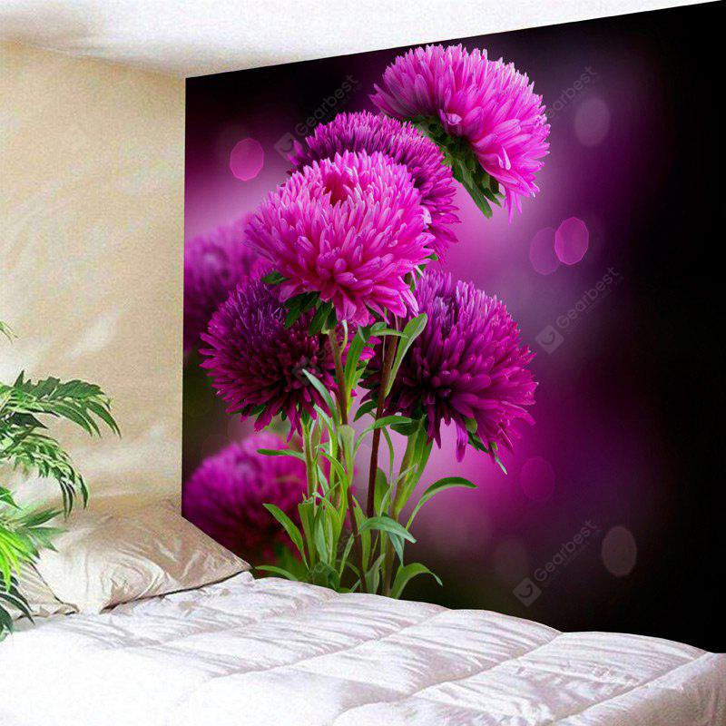 Wall Hanging Flower Print Decorative Tapestry