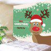 Snowflakes Christmas Elk Pattern Decorative Wall Tapestry - WHITE AND GREEN