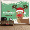 Los copos de nieve Christmas Elk Pattern Decorative Wall Tapestry - BLANCO Y VERDE