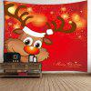 Christmas Elk Pattern Decorative Wall Tapestry - BRIGHT RED
