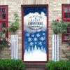 Christmas Greetings Snowflakes Pattern Door Pegatinas de arte - COLORES MEZCLADOS