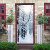 Snowy Forest Pattern Door Pegatinas - GRIS