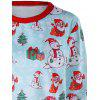 Christmas Snowman Crew Neck Sweatshirt - LIGHT BLUE