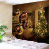 Wall Decor Christmas Living Room Printed Tapestry - BROWN