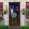 Sparkly Christmas Deer Pattern Door Pegatinas de arte - COLORES MEZCLADOS
