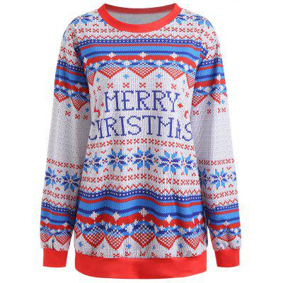 Plus Size Christmas Graphic Sweatshirt
