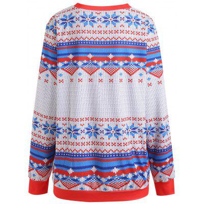 Plus Size Christmas Graphic SweatshirtPlus Size Tops<br>Plus Size Christmas Graphic Sweatshirt<br><br>Material: Polyester<br>Package Contents: 1 x Sweatshirt<br>Pattern Style: Animal<br>Season: Fall, Winter<br>Shirt Length: Regular<br>Sleeve Length: Full<br>Style: Fashion<br>Weight: 0.4650kg