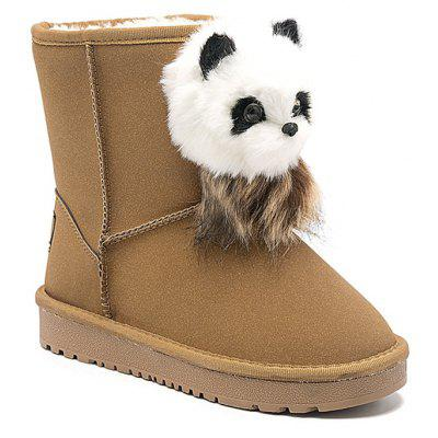 Panda Cartoon Pendant Slip On Snow Boots