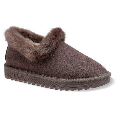 Faux-fur Winter Slip On Ankle Boots
