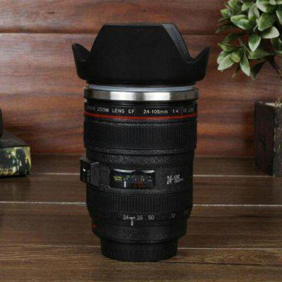 Creative SLR Camera Lens Shape Electric Stirring Coffee Cup