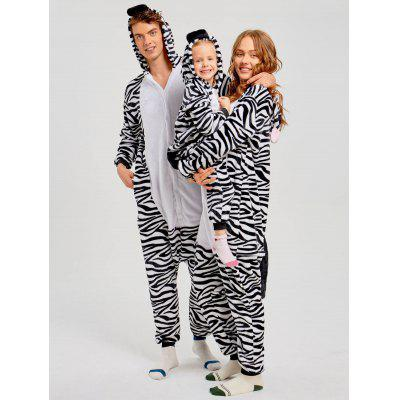 Family Christmas Zebra Animal Onesie Pajama