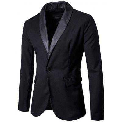 One Button Shawl Collar Tuxedo