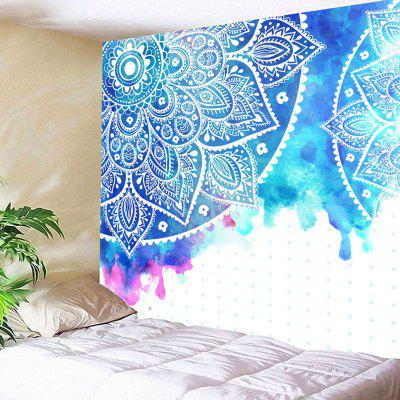 Mandala Flower Print Wall Art Tapestry