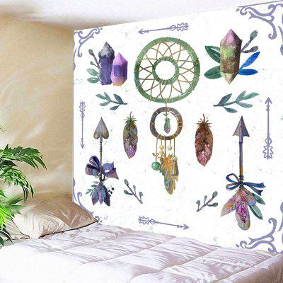 Dreamcatcher Arrows Feather Print Wall Art Tapestry